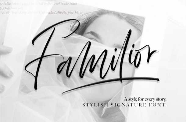 Familior Signature Font