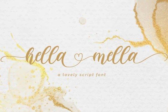 Hella Mella Calligraphy Font