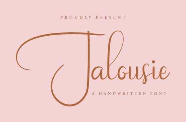 Jalousie Calligraphy Script Font