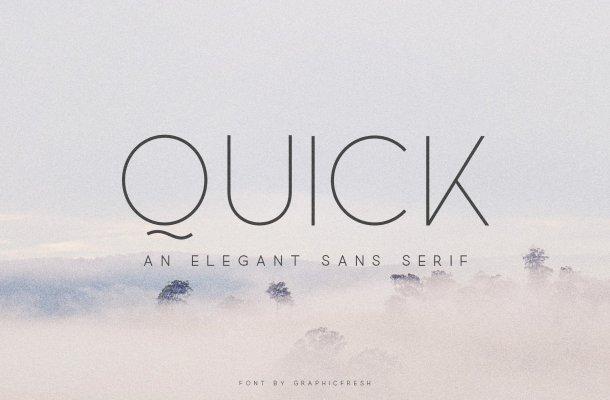 Quick – Elegant Sans Serif Font