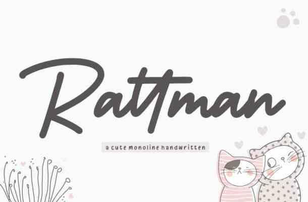Rattman Monoline Handwritten Font