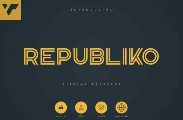 Republiko Display Typeface – 4 Styles