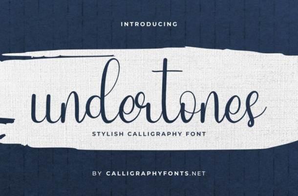 Undertones Script Font