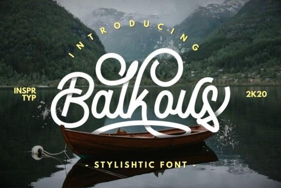 Balkous Script Font