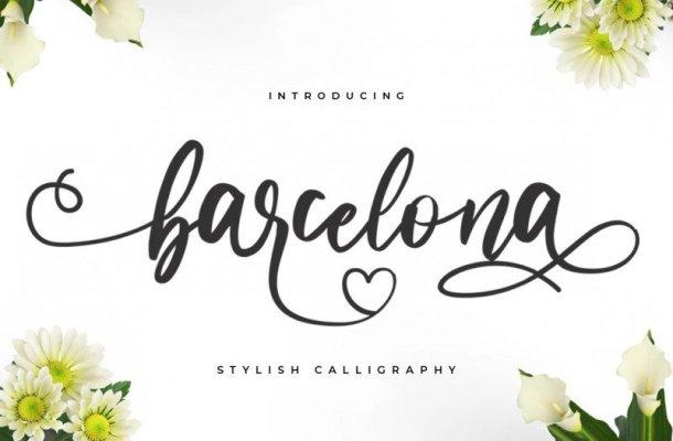 Barcelona Calligraphy Font