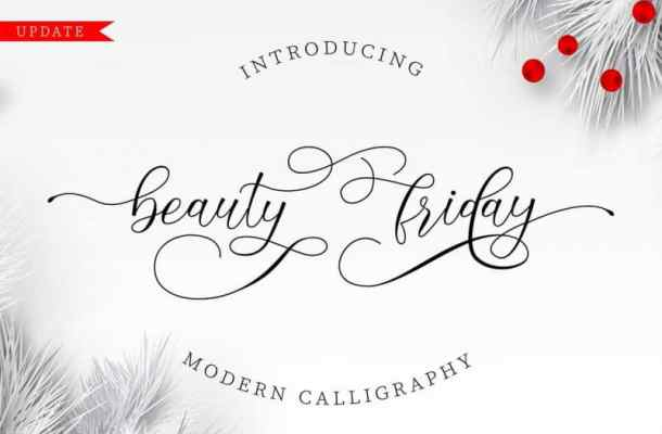 Beauty Friday Calligraphy Font
