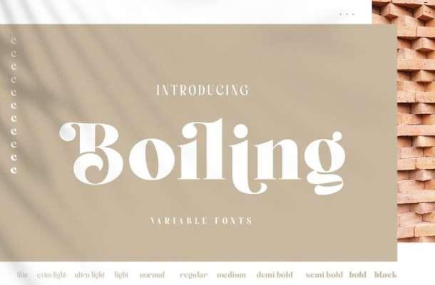Boiling Sans Serif Font
