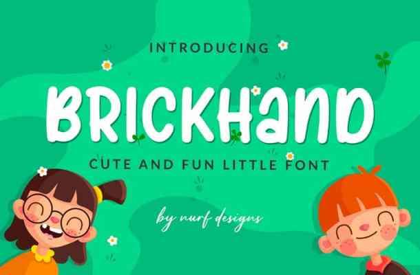 Brickhand Display Font