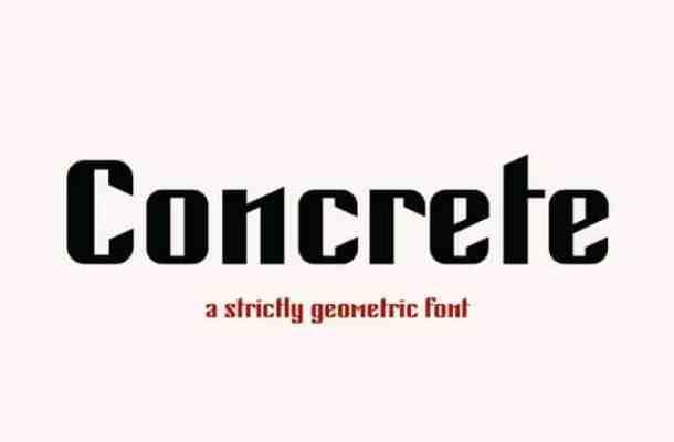 Concrete Display Font