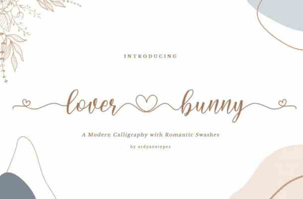Lover Bunny Script Font