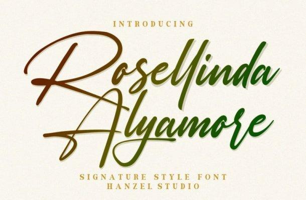 Rosellinda Alyamore Script Font
