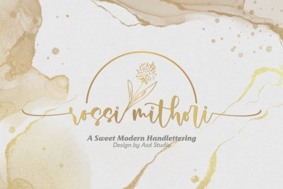 Rossi Mithor Calligraphy Font