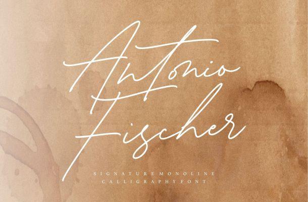 Antonio Fischer Signature Monoline Script Font