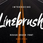 Linebrush Rough Brush Script Font