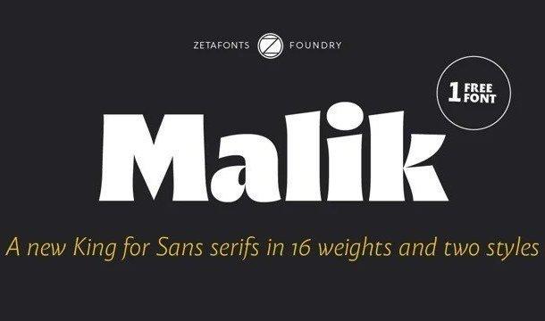 Malik Sans Serif Font Free