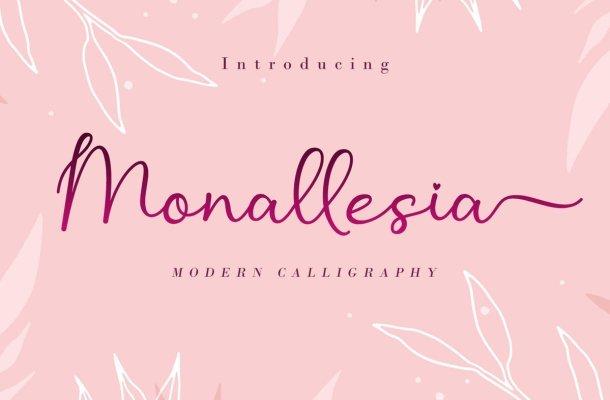 Monallesia Calligraphy Script Font