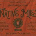 Native Miles Vintage Display Font