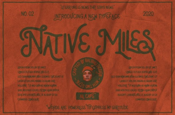 Native Miles Vintage Display Font