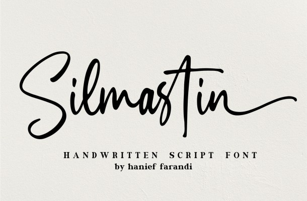 Silmastin Handwritten Script Font