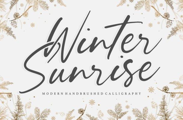 Winter Sunrise Handwritten Script Font