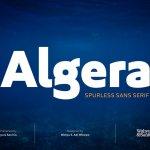 Algera Sans Serif Font Demo
