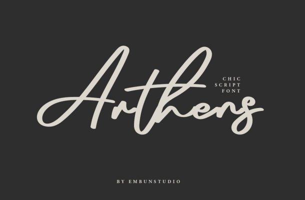 Arthens Bold Signature Script Font