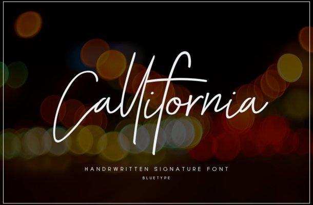 Callifornia Handwritten Signature Font