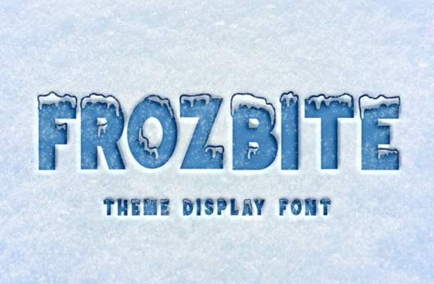 FROZBITE Display Font Free