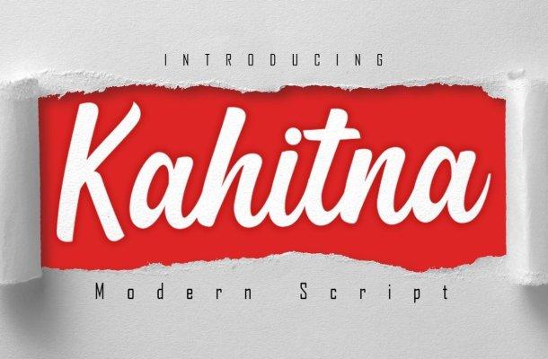 Kahitna Bold Modern Script Font