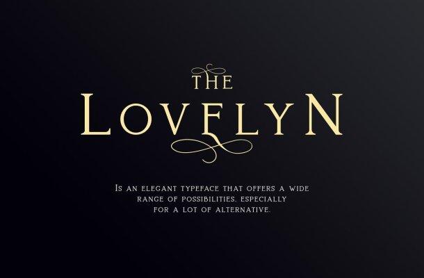 Lovelyn Elegant Serif Typeface