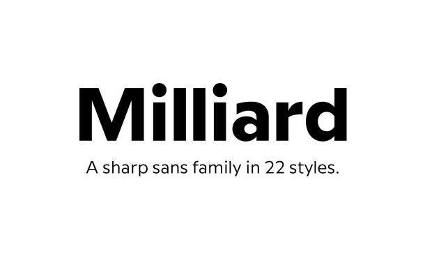 Milliard Sans Serif Font Family