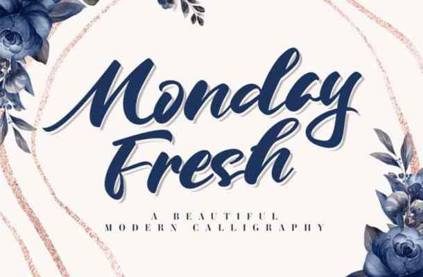 Monday Fresh Calligraphy Font