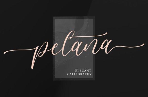 Pelana Modern Calligraphy Script Font
