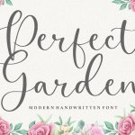 Perfect Garden Modern Handwritten Font