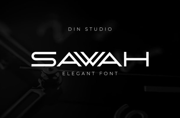 Sawah Modern Elegant Display Font
