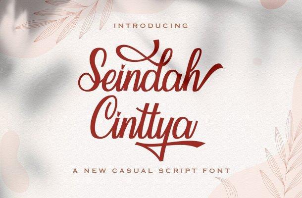 Seindah Cinttya Casual Script Font