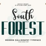 South Forest Sans & Script Font Duo