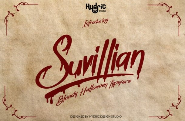 Suvillian Bloody Halloween Typeface