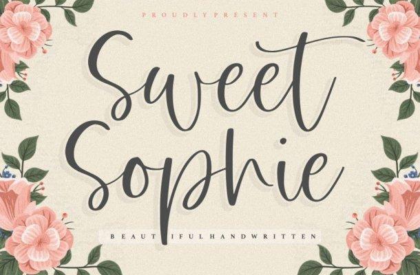 Sweet Sophie Beautiful Handwritten Font