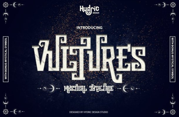 Vultures – Mystical Typeface Free