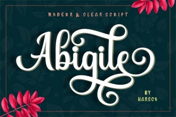 Abigile Calligraphy Font Free