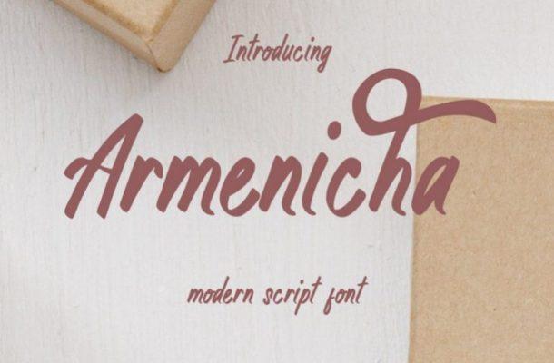 Armenicha Script Font Free