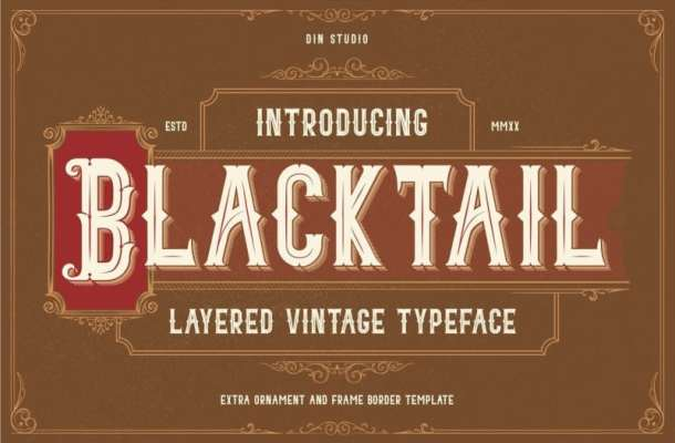 Blacktail Blackletter font Free