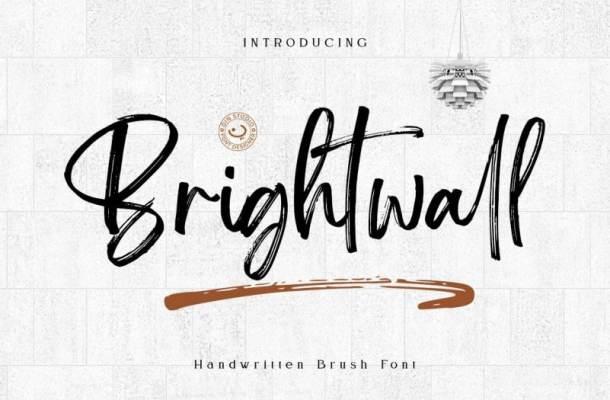 Brightwall Brush Font Free