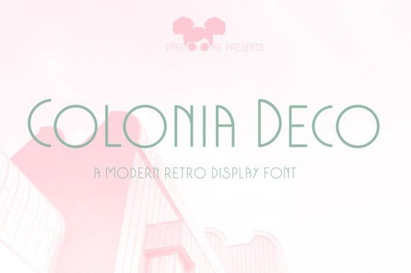 Colonia Deco Sans Serif Font