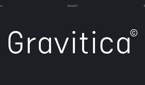 Gravitica Sans Serif Font Demo