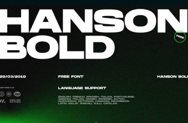 Hanson Bold Font Free