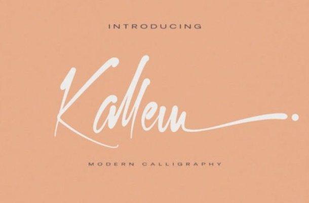 Kallem Calligraphy Font Free
