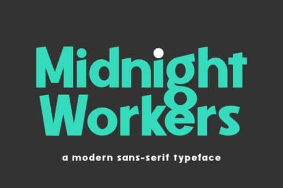 Midnight Workers Sans Serif Font
