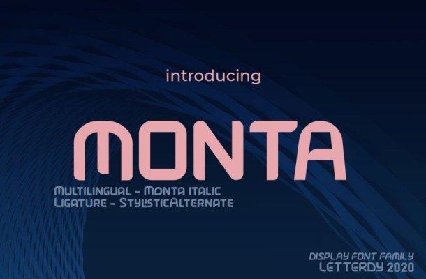 Monta Display Font Free